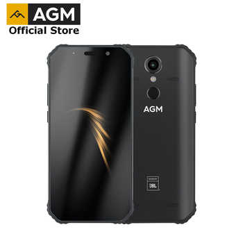 "Resmi AGM A9 JBL ortak marka 5.99 ""FHD + 4G + 32G Android 8.1 sağlam telefon 5400mAh IP68 su geçirmez Smartphone Quad kutusu hoparlörler"