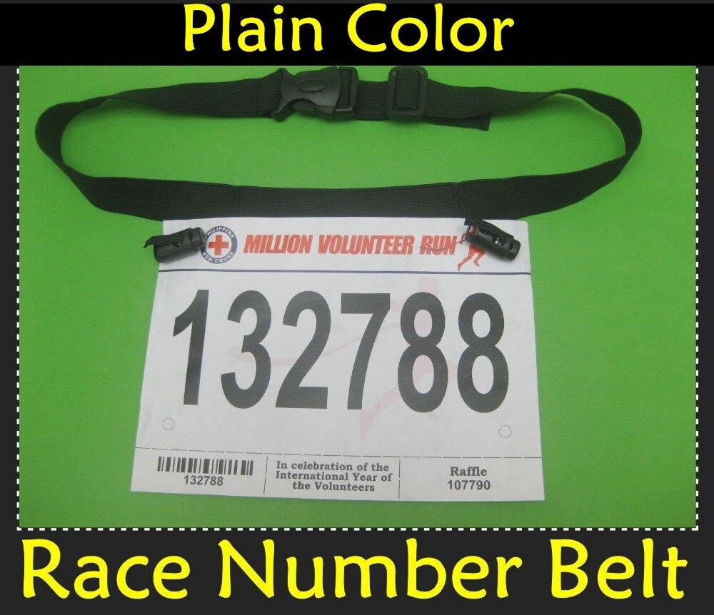 2016 Base Plain Race Bibs Holder Belt~Black/Blue Race Number Tri ...