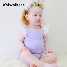 New Baby Rompers Infant Girl Newborn Clothes Pure Color Cotton Sleeveless Suits Coverall H011