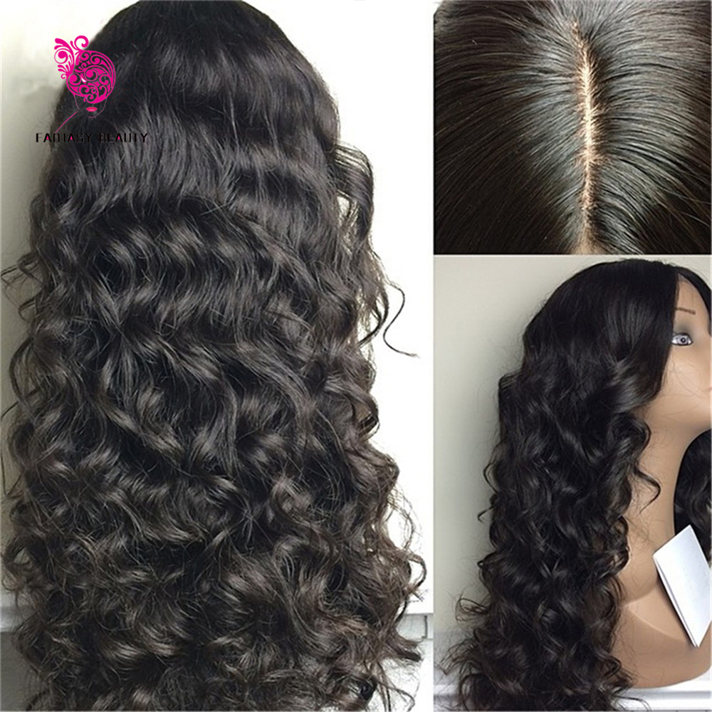 In Stock Glueless Silk Top Full Lace Wigs Virgin Peruvian