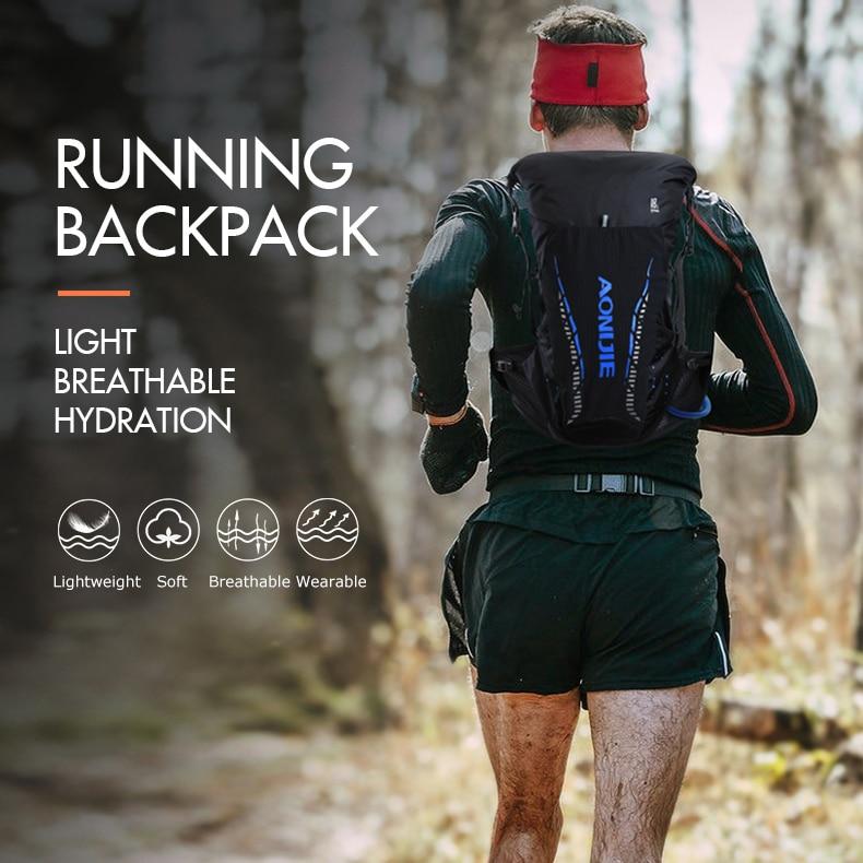 AONIJIE Pro Outdoor Lightweight Hydration Backpack Rucksack Bag Vest for 2L Water Bladder Hiking Camping Running Marathon Race