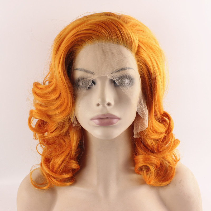 ... Wig Costume Party Orange Wig Natural-in Synthetic Wigs from Hair
