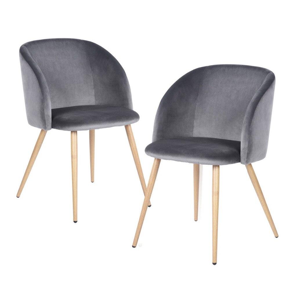 Modern Velvet Accent Dining Room Armchair Vanity Chair
