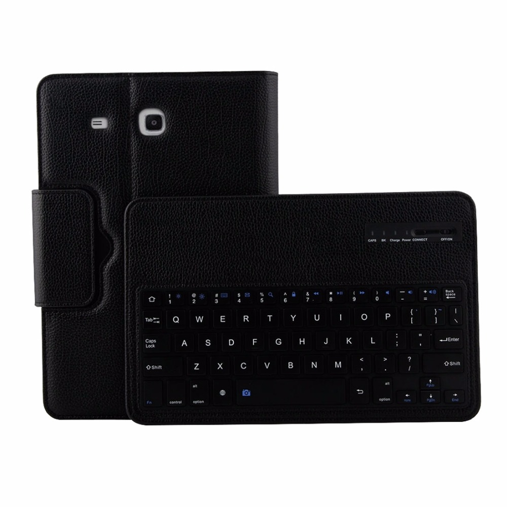 For Samsung Galaxy Tab E 9.6 / T560 2 in 1 Detachable Wireless Keyboard Litchi Texture Leather Case with Holder планшеты samsung tab