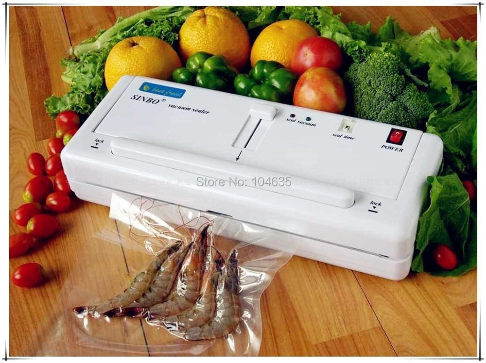 Бесплатный DHL/FEDEX/EMS Доставка! 220 В/110 В SINBO DZ-280 Бытовая Вакуумный пластиковый мешок машина уплотнителя для пищевой фрукты овощи