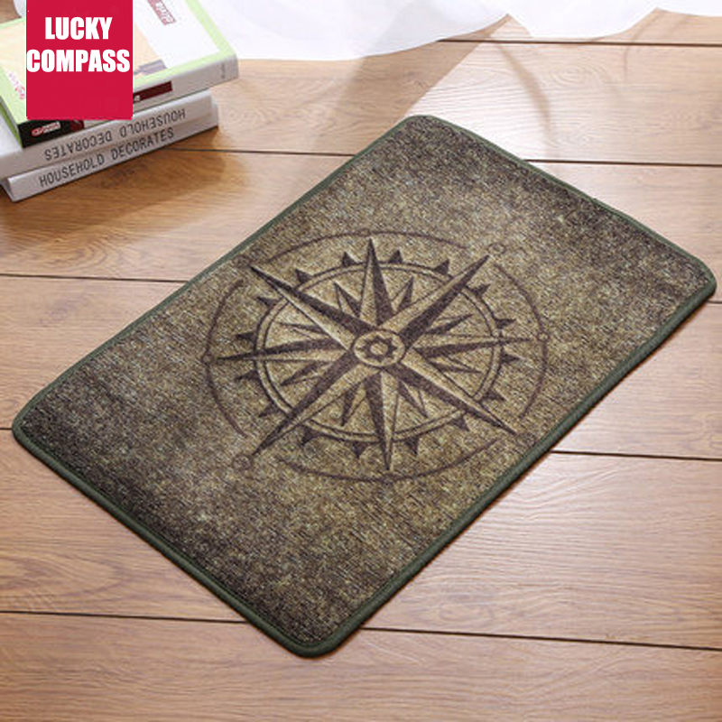 Lucky Compass Comfortable Bathroom Mats Carpet Doormat Bath Mat Living Room Bedroom Bath ...