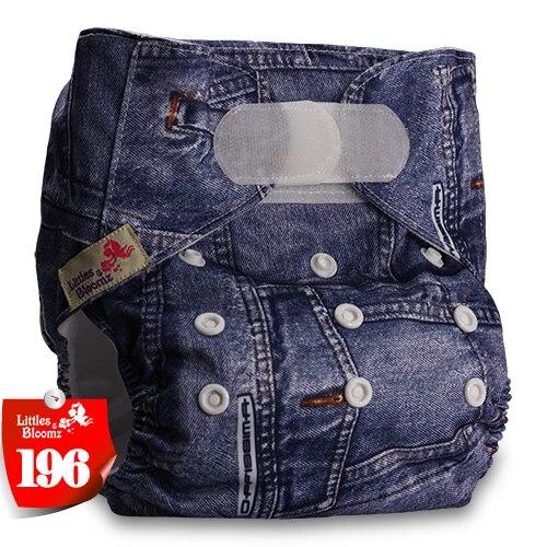 [Littles&Bloomz] Детские Моющиеся Многоразовые, настоящая стандартная ткань, застежка-липучка, карман для подгузников, пеленки, обертывание, подходит для рождения в горшке - Цвет: 196