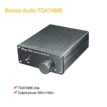 2019 brisa áudio estéreo amplificador de áudio tda7498e 2 canais mini hi-fi classe d integrado amp para casa alto-falantes 160 w