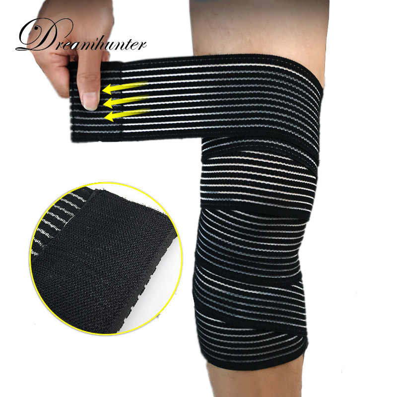 ca892ecb34 Sports Knee Protectors Basketball Weightlifting Squat Bandage Wrap Strap  Knee Brace Calf Safety Supports Leg Warmers