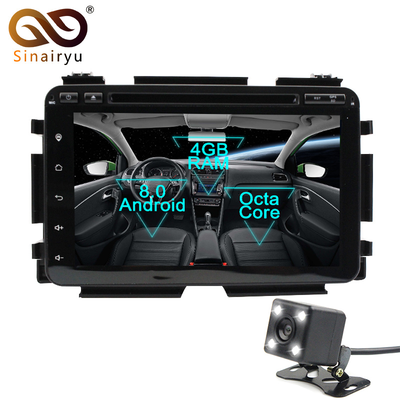 Sinairyu 2 Din Android 8 0 Octa Core Car DVD Player For Honda HRV VEZEL 2015