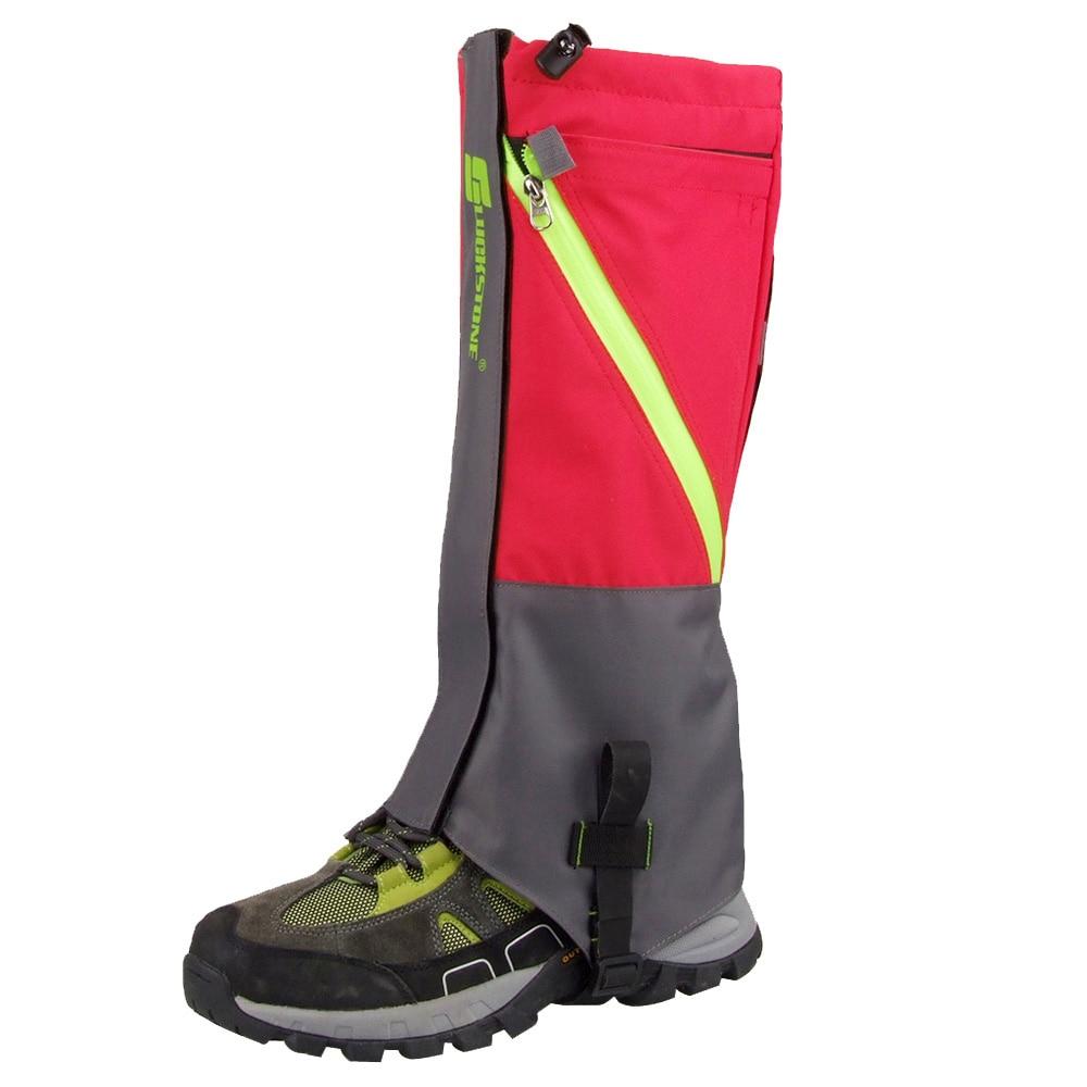 2 Pz Outdoor 2 Strati Impermeabile Campeggio Trekking Neve Ghette Piedino Per Outdoor Skate Sci A Piedi Shin Gamba Attrezzature di Protezione nuovo