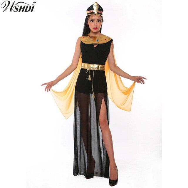 Para Disfraz Cleopatra De Adultas Cosplay Piramides Lujo Diosa Reina Egipcio La Vestido Halloween Mujeres Fiesta Las EH9ID2