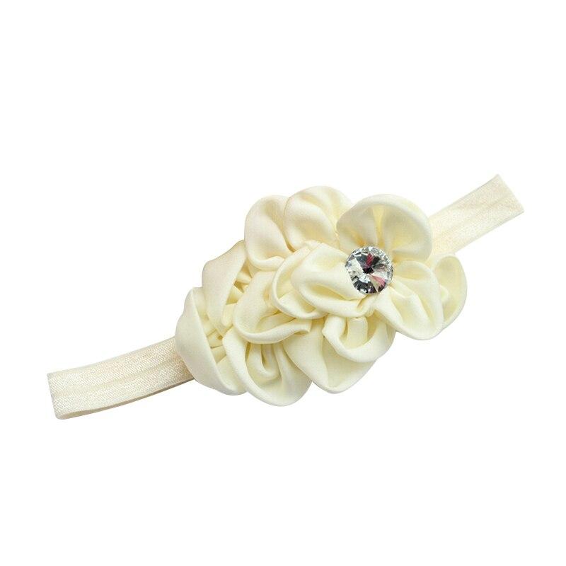 YOST Bandeau des Fleurs pour Bebes Filles Mousseline de Soie Beaute(Beige)