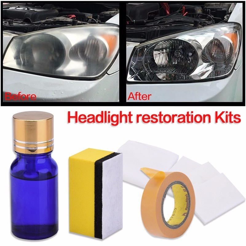 Opqr 10ml Car Headlight Polish Restoration Kit Auto Lamp Lenses
