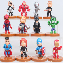 The Avengers Super Hero Action Figure Toy Hot Movie Spiderman Batman Ironman Brinquedos Collection Children Gift