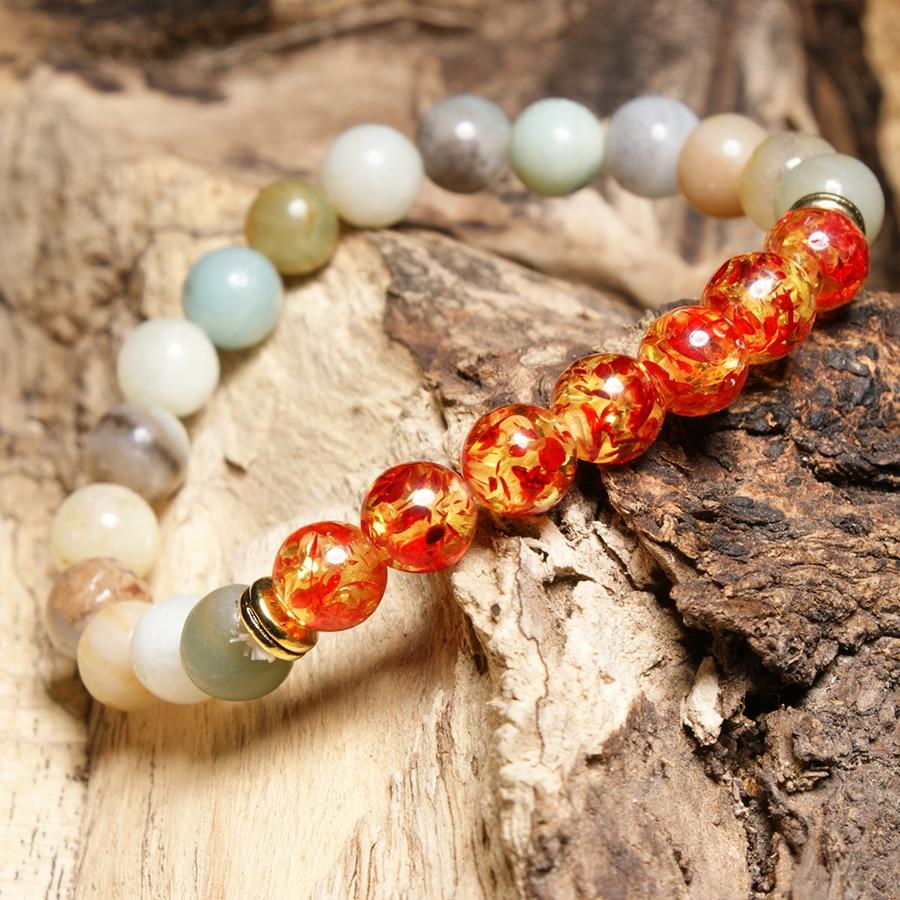 HOBBORN Trendy Chakra Beads Bracelet Women Men Handmade Natural Stone Healing Reiki Prayer Balance Unisex Bracelets Jewelry Cruz in Strand Bracelets from Jewelry Accessories