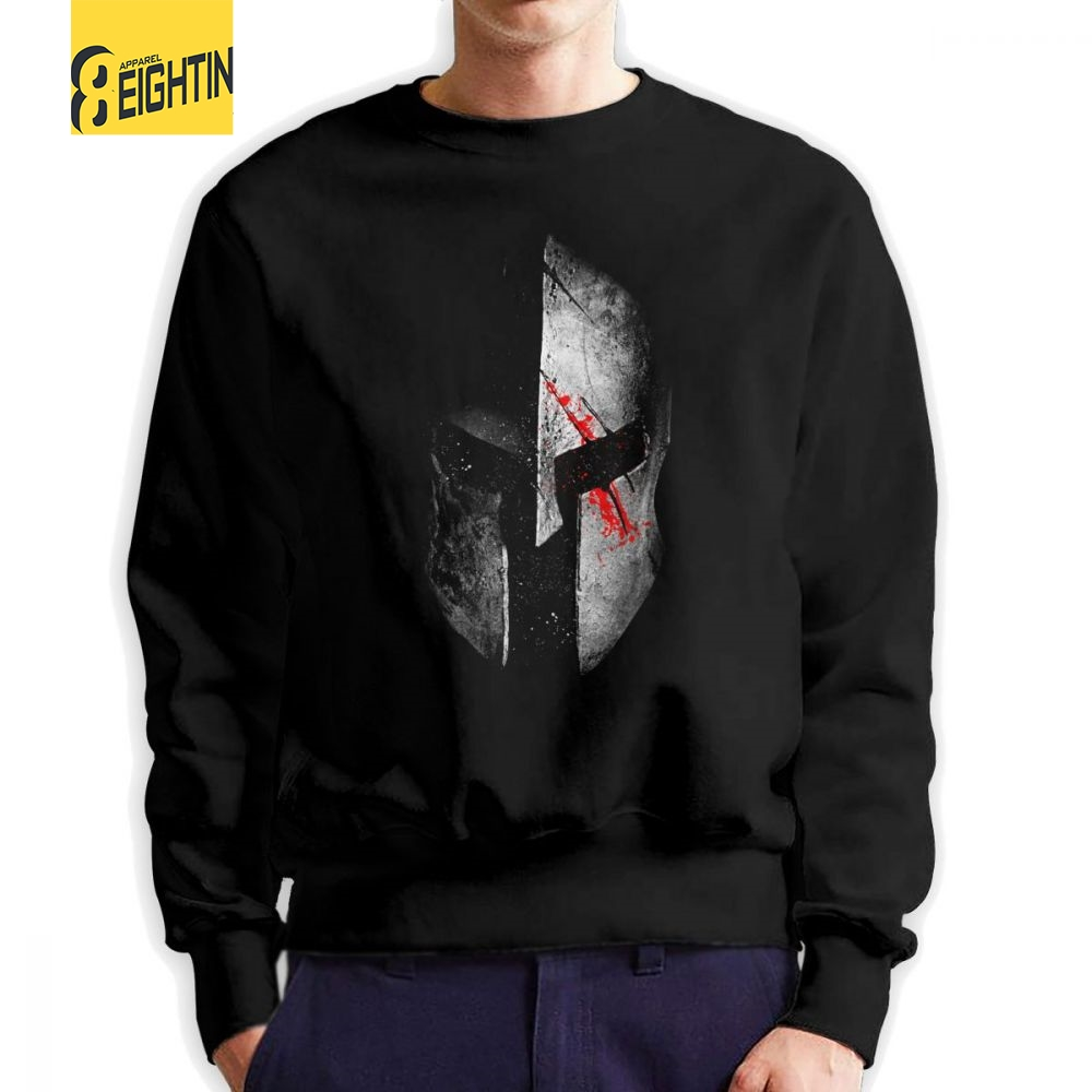 Men's Clothing Symbol Of The Brand Spartan Sparta Helmet Men Pullovers Cotton Vintage Sweatshirts Crewneck Clothing Classic Fit Hoodies