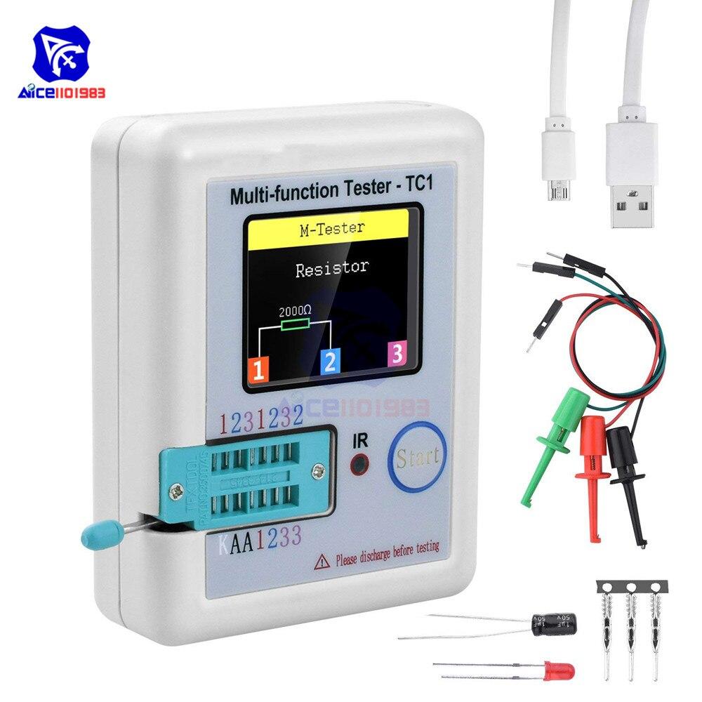 3,5 zoll (160*128) Bunte Display Multifunktionale TFT Hintergrundbeleuchtung Transistor LCR-TC1 Tester für Diode Triode Kondensator Widerstand