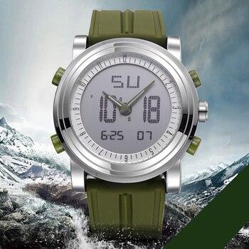 SINOBI ספורט שעון יד גברים שעונים דיגיטלי קוורץ שעון תנועה עמיד למים שעון יוקרה למעלה מותג הכרונוגרף זכר Reloj 2017