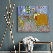 Van Goghs bedroom by Gogh Wall Art Poster Print Canvas Painting Calligraphy Decorative Picture for Living Room Home Decor