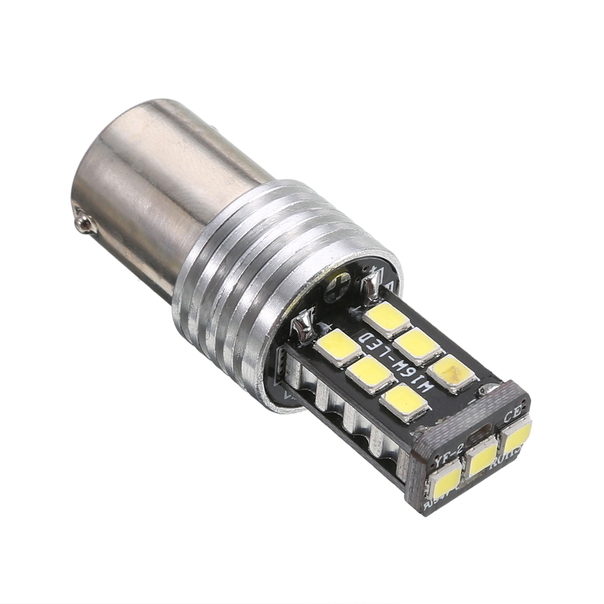 Hot 1PCS DC 12V 1156 P21W BA15S 2835 15LED Canbus Car Reverse Backup Tail Light Bulb High Light White LED Lighting Bulb