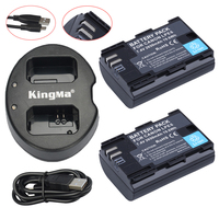 2Pcs LP E6 LPE6 LP E6 Rechargeable Battery Fully Coded Version USB Dual Charger For Canon