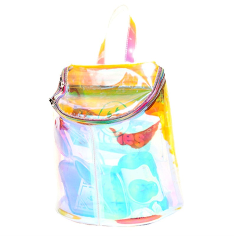Women Transparent Backpack Holographic Bag Hologram Laser Backpack School Shoulder bag For Teenage Girls Mochilas цена