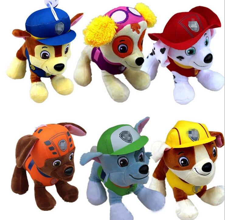 hot <font><b>sale</b></font> 6pcs 20CM Canine Patrol Dog Toys Russian Anime Doll <font><b>Action</b></font> <font><b>Figures</b></font> Car Patrol Puppy Toy Gift <font><b>for</b></font> Child