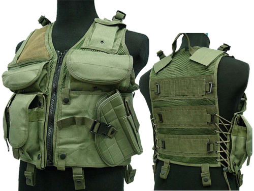 Outdoor Military Army Paintball TVE Airsoft Assault Tactical Combat molle Vest Green