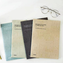 """Minimalism"" Exercise Notepad Pack of 4 Lined Business Notebook Big Size Composition Book Journal Stationery Gift"