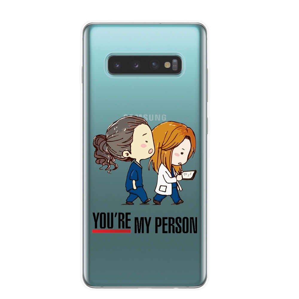 Grays Anatomy Kau Orang Phone Case untuk Fundas Samsung S10 Plus Lite S10E M10 M20 TPU Silikon Lembut kasus Penutup Asli