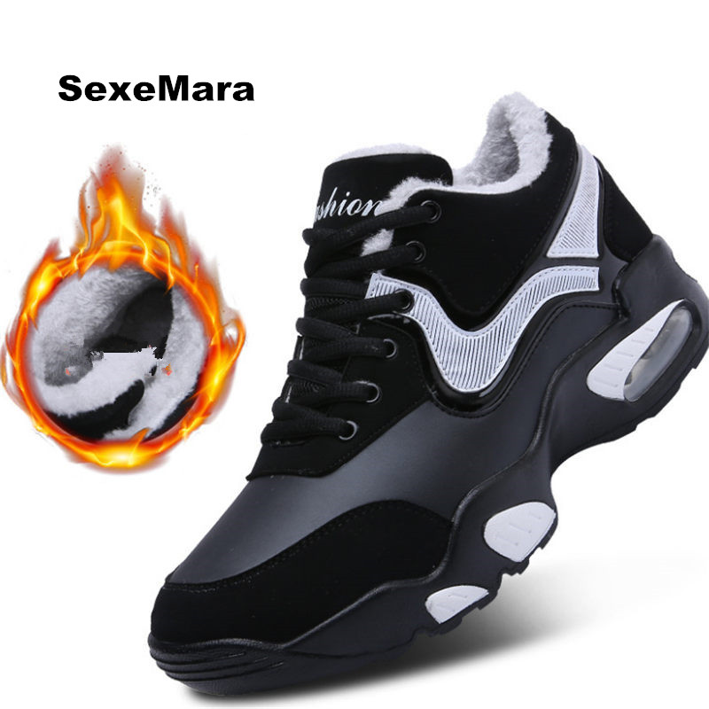 Women Sneakers warm Air Cushioning Men Running Shoes For woman Sport Shoes Jogging Walking men Outdoor Shoes Athletic Trainers 2018 men warm winter running shoes high top athletic sneakers sports outdoor fitness women jogging trend trainers walking boots