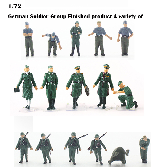 1/72  German Soldier Group  Finished Product  Military Scene Collocation Model  A Variety Of  Suitable For Combat Vehicle Tanks