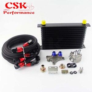 13 linha 262mm an10 kit refrigerador de óleo se encaixa para nissan silvia s13 s14 s15 180sx 200sx 240sx sr20det preto/azul/ouro
