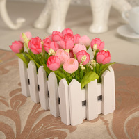 vase/ 16cm Star wood fence flower bract suit Mei silk flowers set the living room decoration artificial flowers cheap quality