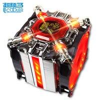 Pccooler 5 Heatpipe CPU cooler 12cm LED 4pin fan for Intel 1155 1156 AMD AM4 radiator heatsink CPU cooling 120mm quiet PC fan