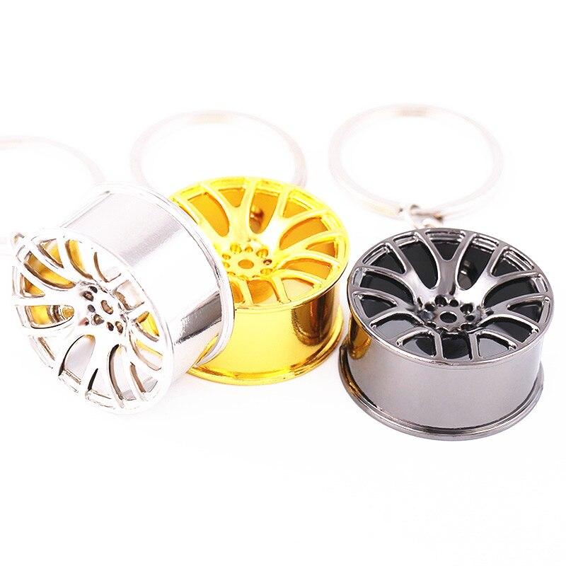 Hot sell discount New Design Cool Luxury metal Keychain Car Key Chain Key Ring wheel hub chain pendant Fashion