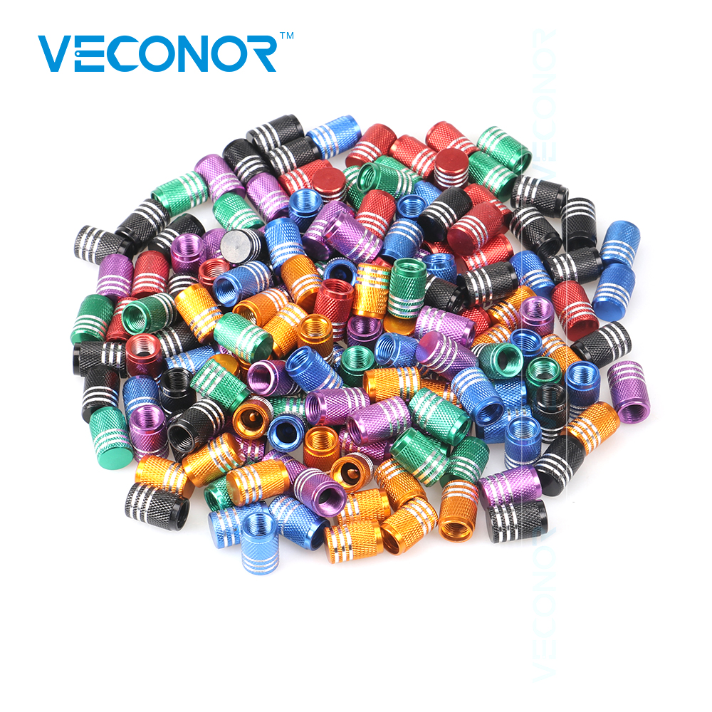 Veconor 20pcs Lot Universal Aluminum Car Truck Bike Motorcycle Tyre Tire Valve Core Caps Wheel Valve Stem Cap Dust Cover ryanstar racing car universal 16 5mm aluminum alloy tire tyre valve caps