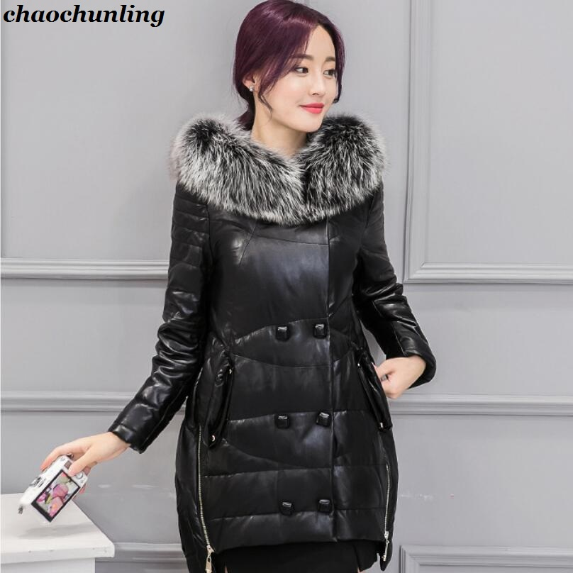 Lady Thick Jacket 2017 New Autumn And Winter England Style High Quality Women Leather100% Coats With Buttons lady thick jacket 2017 new autumn and winter england style high quality women leather100