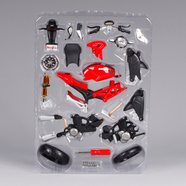 Maisto 1:12 Ducati Monster 696 di Montaggio FAI DA TE MOTO Modello di MOTO Kit TRASPORTO LIBERO S 1000RR/R1200 GS 39189