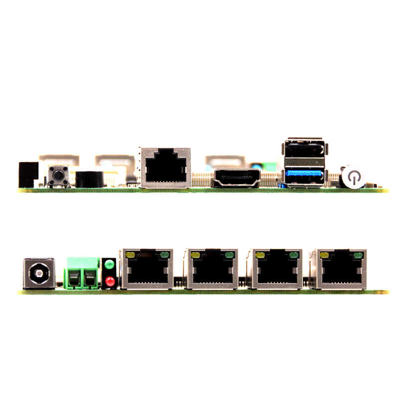 Nano 12*12 CM industrial mini PC con Baytrail E3845/J1900 4 * Lan 2 * USB wifi/3G EMMC/SSD/HDD opcional
