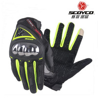 2017 Summer New SCOYCO Motorcycle Gloves Motorbike Rider Glove With Soft Shell Anti Throwing Ventilation Can