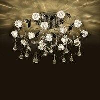 Led bedroom ceiling lamp personalized creative atmosphere lighting fixture European style restaurant modern simple crystal lamp