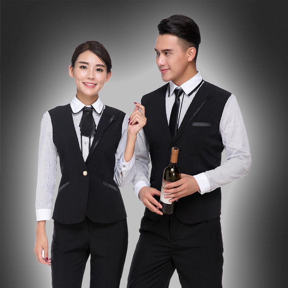 Waistcoatt For Hotel Uniform For Hotel Coffee Shop Long