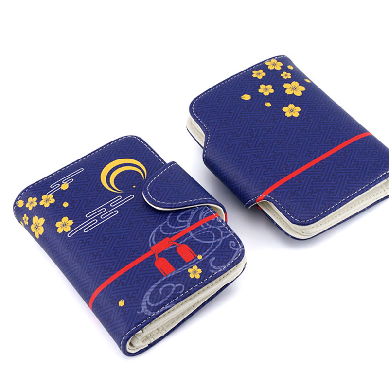 Anime Ouken Ranbu Online Cosplay Short Wallet Imanotsurugi Atsu Toushirou Design PU Leather Unisex Purse Kawaii Card Holder лежанка для животных добаз цвет светло розовый серый 65 х 65 х 20 см