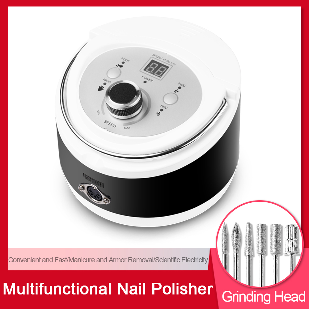 Electric Nail Drill Machine Manicure Pedicure Files Tools Kit Nail Polisher With LCD Display 30000RPM Grinding Glazing Nail SetElectric Nail Drill Machine Manicure Pedicure Files Tools Kit Nail Polisher With LCD Display 30000RPM Grinding Glazing Nail Set