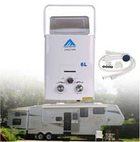2018 Hot Sales LPG 6L Portable Tankless Camping Propane RV 12 Volt Hot Water Heater 1