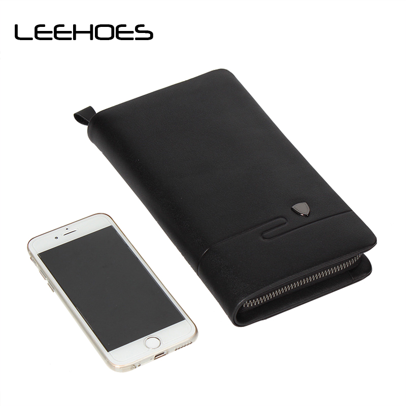 Original Genuine Leather Men's Clutch Business Soft Leather Wallets High Quality Fashion Clutch Bag Men Purse Cell Phone Wallet contact s 100% genuine leather wallet men long vintage cow leather casual purse brand design high quality wallets cell phone bag