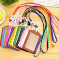 name badge card Business Card Holder PU porte carte  cover with nylon nack company office supply 13 colors ACH202A