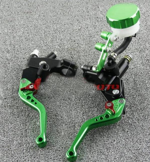 Free Shipping 7/8 22mm Motorcycle Brake Clutch Brake Rod Master Cylinder Suitable for Honda CBR250 CBR400 CBR600 CBR900--green